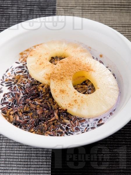 Бубух инджин - пудинг от черен ориз с кокосово мляко - снимка на рецептата